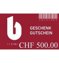 Geschenkgutschein zu CHF 500.00